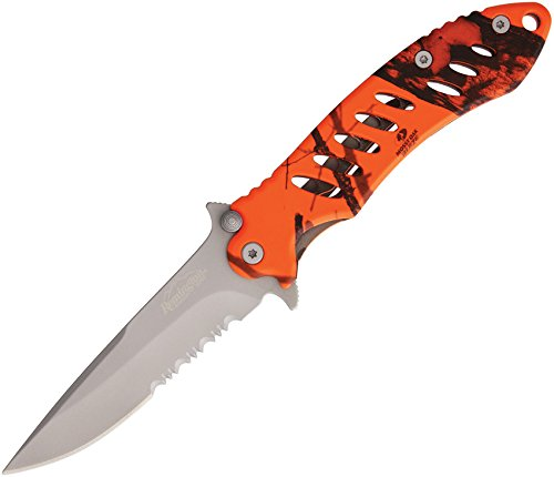 Remington Fast Folder - Remington Cutlery R19768 F.A.S.T. Large Folder Knife with Bead Blast Finish Serrated Blade, 5-Inch, Mossy Oak Blaze