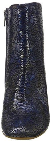 Fersengold Istanbul - Botines Mujer Mehrfarbig (Blau-Silber-Schwarz)