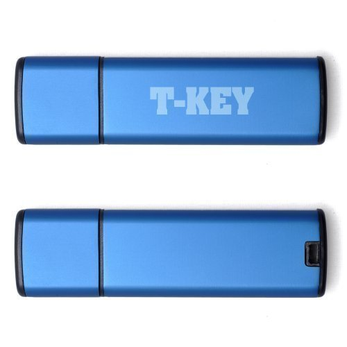Confidential Document Solutions (T-Key USB flash drive - hard disk secure encryption key - For confidential and secret data - 4GB - BLUE)
