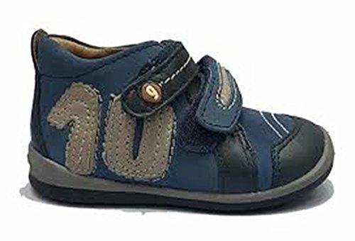 Garvalin 131337 - Botas de cuero niño Azul