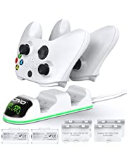 OIVO Controller Charger Compatible with Xbox Series, One/S/X Controller, Dual Charging Station Updated LED Strap,Charger Docking Station with 2 Rechargeable Battery Packs