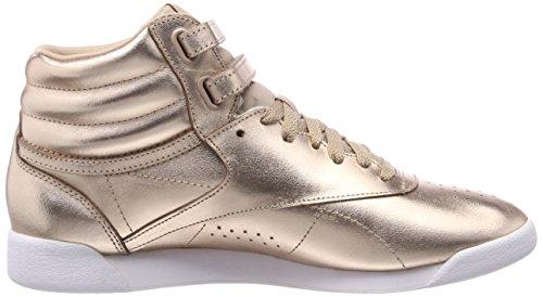 Reebok Freestyle Hi Metallic, Baskets Hautes Femme Rose (Rose Gold/White/Silver Peony 000)