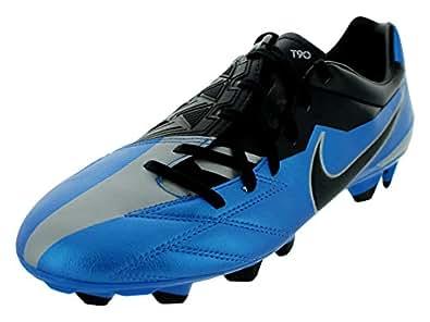 Nike Men's NIKE T90 STRIKE IV FG SOCCER SHOES 11 (SOAR/BLACK/METALLIC SILVER)
