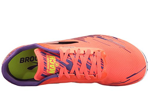 Brooks Mujeres Mach 18 Spikeless Fiery Coral / Electric Purple / Black