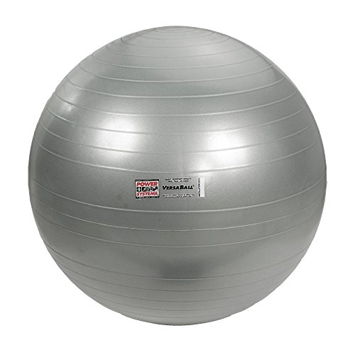 Power Systems VersaBall Stability Ball, 55cm, Silver Frost (80017) by Power Systems