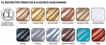 Amaco Rub 'n Buff Metallic Finishes Sampler Set, 12 Colors (76345E) ()