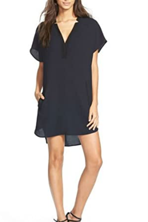 419af237771 Image Unavailable. Image not available for. Color  ASTR The Label Women s V  Neck Crepe Shift Dress