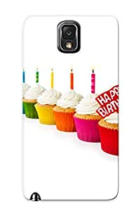 Catenaryoi Hot Tpye Happy Birthday Cupcakes Case Cover For Galaxy Note 3 For Christmas Day's Gifts