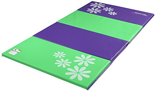 Tumbl Trak Gymnastics Folding Tumbling Panel Mat, 4ft x 8ft x 1-3/8in, Flower Power