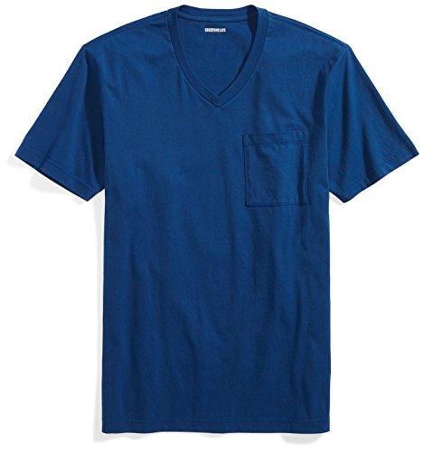 Goodthreads Men's Short-Sleeve V-Neck Cotton T-Shirt, Royal Blue, Large by Goodthreads
