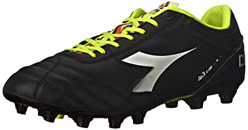 Diadora Men's Italica 3 K Pro Soccer Cleat, Black/White, 10.5 M (Diadora Footwear)