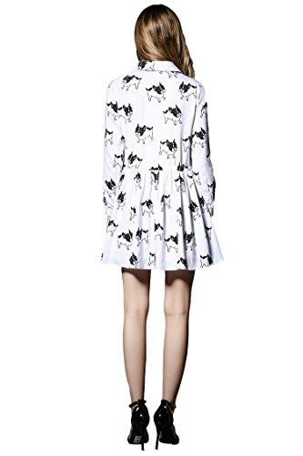 LILY-ANN-2016-new-spring-fashion-cotton-hemp-printing-Shirt-collar-dress