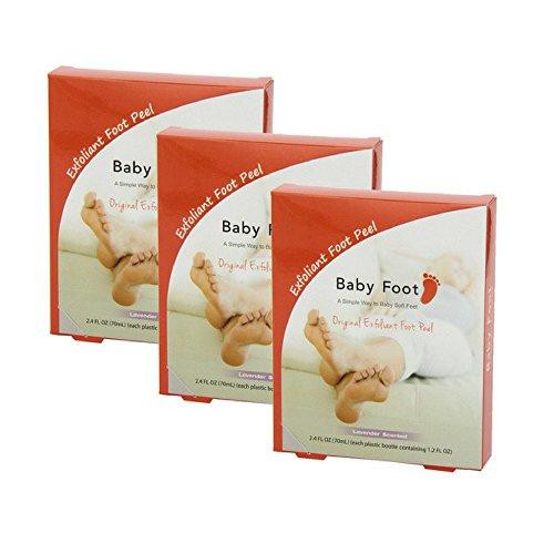 Baby Foot Exfoliant Foot Peel, Lavender Scented, 2.4 Fl. Oz. (3 pack)