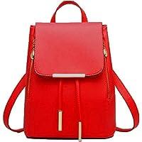 DOROTO Fashion PU Beautiful Red Backpack for Women
