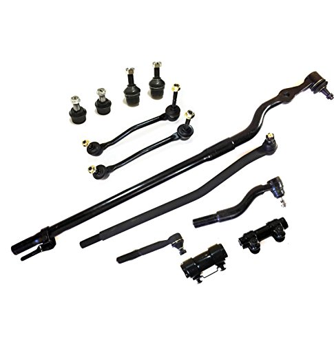 (PartsW 12 Pc Front Suspension Kit for Ford Excursion F-250 & F-350 Super Duty 4WD Models Inner & Outer Tie Rod Ends Adjusting Sleeves Upper & Lower Ball Joints Sway Bar End Links)