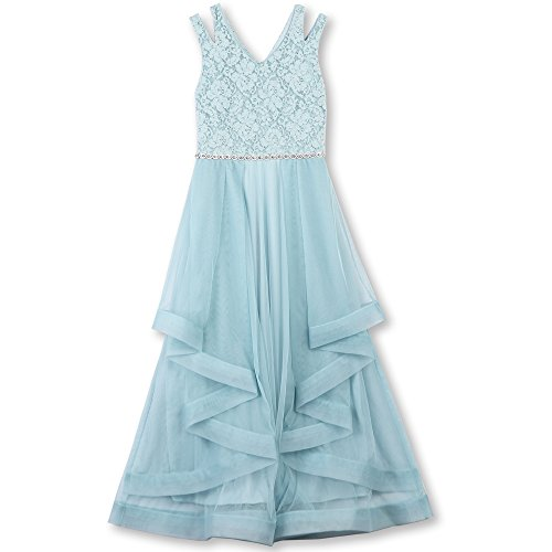 Speechless Big Girls' Formal Dance Or Party Dress with Wide Ribbon Hem, Ice Blue, (Tween Party Dresses)