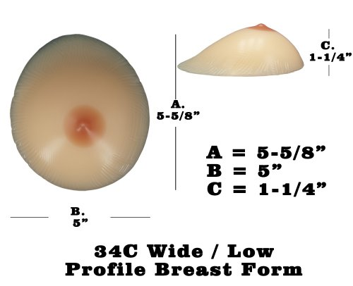 Silicone Breast Forms Mastectomy Size 5 34c/36b/38a in the UAE ...