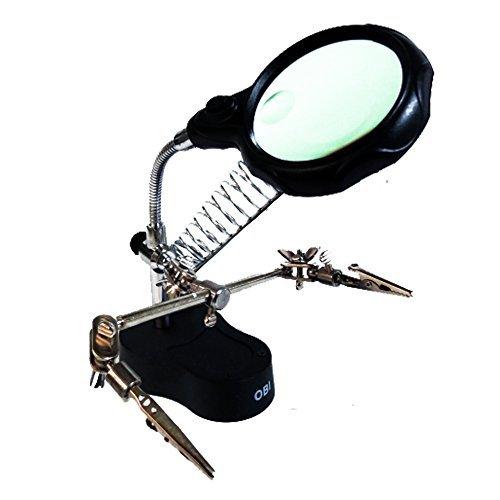 OBI - Lupa con Luz Led Pinzas Base para Cautín Reparar iPhone
