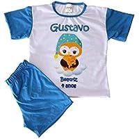Kit 10 Pijamas Infantil Personalizado Com Arte e Nome da Criança 2 a 12 anos