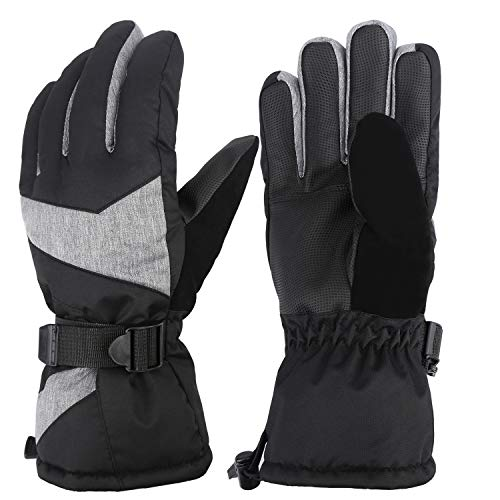 Mysuntown Winter Gloves for Men and Women Ski Gloves Waterproof Warm Snow Gloves Outdoor Snowboarding Snowmobile (M)
