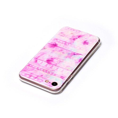 "iPhone 7 Hülle , Leiai Mode Rose Wolke TPU Weich Tasche Schutzhülle Silikon Handyhülle Stoßdämpfende Schale Case Shell für Apple iPhone 7 4.7"""