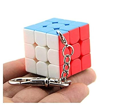 AHIMITSU Llavero de Cubo 3D Llavero de Regalo de Rubik Creativo Llavero_Coloroso