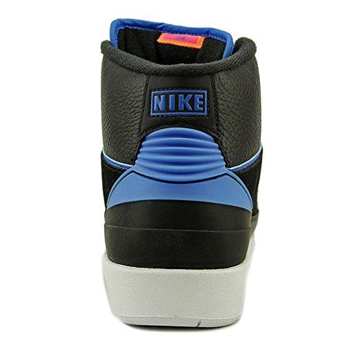 Nike Air Jordan 2 Retro Svart / Foto Blå Mens Basketskor Storlek 11