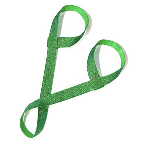 Green Glitter Adjustable Roller Skate Leash/Over Shoulder Sling
