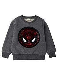 Tsyllyp Girls Boys Children Magic Sequin Hoodie Sweatshirt Cotton Pullover Top