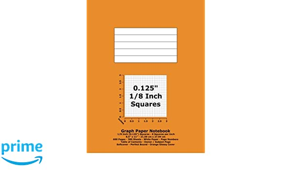 graph paper notebook 0 125 inch 1 8 squares 8 5 x 11 21 59