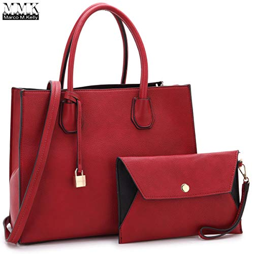 MMK collection Fashion Women Purses and Handbags Ladies Designer Satchel Tote Bag Shoulder Bags and coin purse (23-7661-RD)