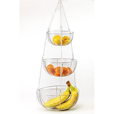 Useful. 3 Tier Hanging Fruit Basket (Chrome)