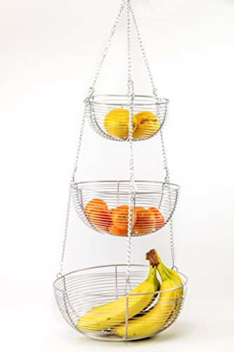 Useful. 3 Tier Hanging Fruit Basket (Chrome)