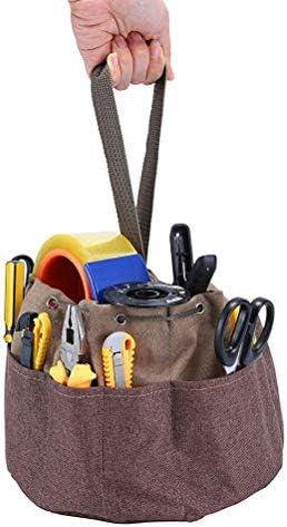 hapler ツールバッグ トートバッグ 道具袋 工具バッグ 小物入れ 大口収納 庭造り手工具差し入れ 釘袋 ツールポケット ガーデントート 園芸工具収納袋