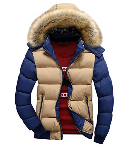 Howme Coat Men Winter Warm Down Contrast Collar Fur 1 Hood Thickened 11ZxgzwqrA