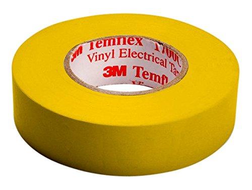 3M TGEL1525 Temflex 1500 Vinyl Elektro-Isolierband, 15 mm x 25 m, 0,15 mm, Gelb 7000062285
