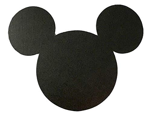 Disney Mickey Mouse Black Card Stock Die Cuts 4 Inch Size (Measured Ear to Ear)