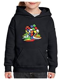 Xekia Melting Rubiks Cube Rubik Cube Hoodie For Girls and Boys Youth Kids