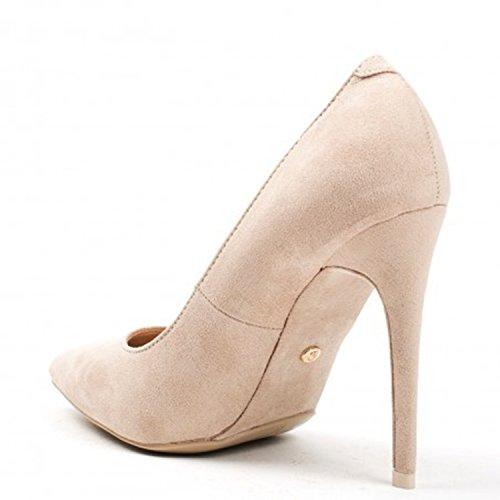 Klassische Damen Stilettos Pumps High Heels Plateau Schuhe Spitz 60