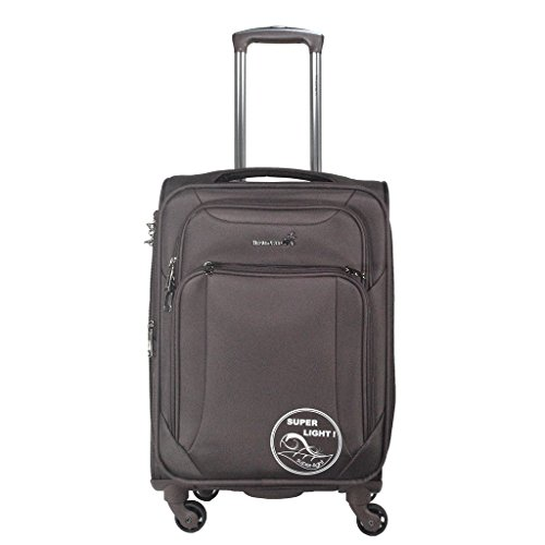 TRAWORLD Polyester 28 inch 4wheel Trolley Bag, 100L Brown