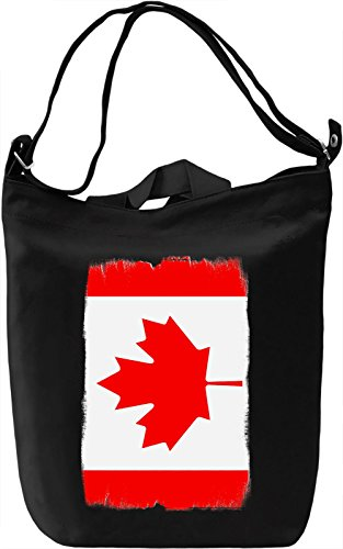 Canada Flag Borsa Giornaliera Canvas Canvas Day Bag| 100% Premium Cotton Canvas| DTG Printing|