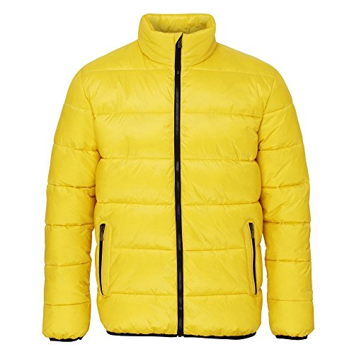 Jacket Full 2786 Black Padded Venture Mens Supersoft Lime Zip YWRfwUq