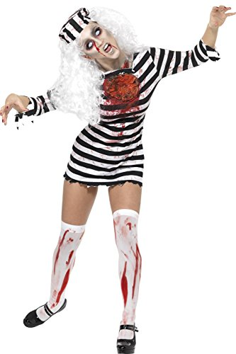 Convict Costume Uk (Smiffys Women's Zombie Convict Costume)