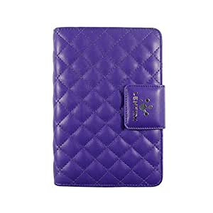 Lention Colorful Series Protective PU Leather Cover Case With Functional Card Holder Stand For iPad Mini And iPad Mini 2 Purple