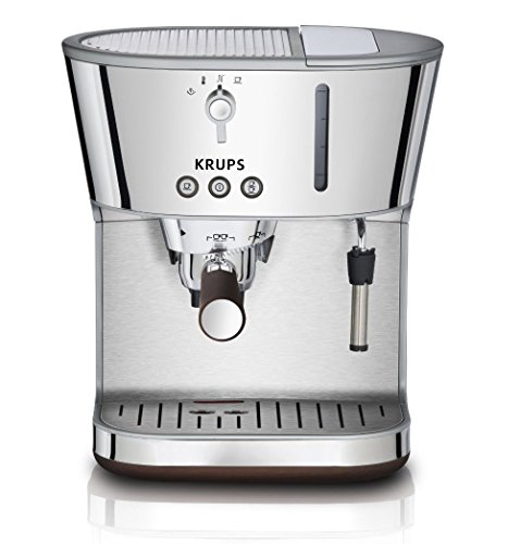 Krups Espresso Pods - KRUPS XP4600 Silver Art Collection Pump Espresso Machine with KRUPS Precise Tamp Technology and Stainless Steel Housing, Silver