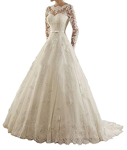 RightBride Wedding Dresses Sleeves Vintage product image