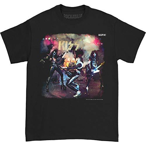 Kiss Alive Rock N ROLL Print Mens Classic Cotton Shirt