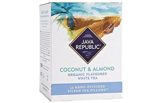 Coconut and Almond Organic Flavoured White Tea, 15 Tea Pillows (1 Box)
