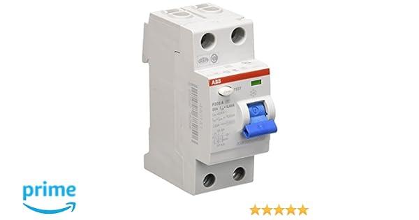 ABB - Interruptor automático (25 A F202A-25/0,03): Amazon.es ...