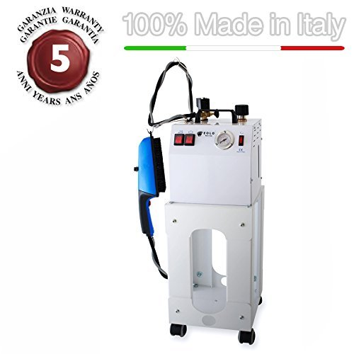 AV03 Professional steam brush for vertical ironing with copper boiler to energy saving (3,5 litres to semi-continuous refilling) and external anti-scale resistor 110-120 Volts by EOLO H&P